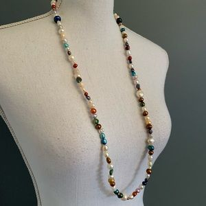 Freshwater Pearl Necklace~Multicolor